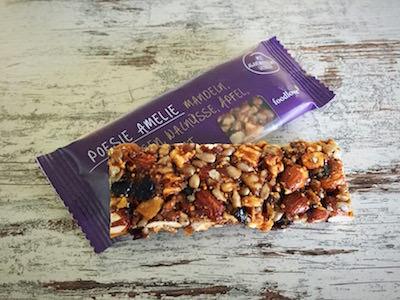 De Poesie Amelie reep behoort tot onze gezonde snacks